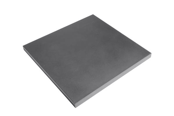 Stål topp, firkant grå
