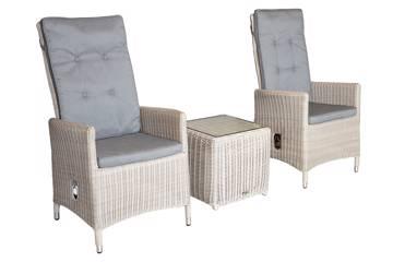 Calla kaffesett, 2 stoler og kaffebord