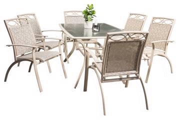Oxalis, Rektangulært bord og 6 stoler