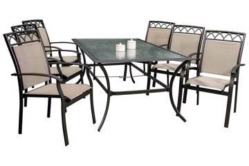 Orbea, Rektangulært bord og 6 stoler