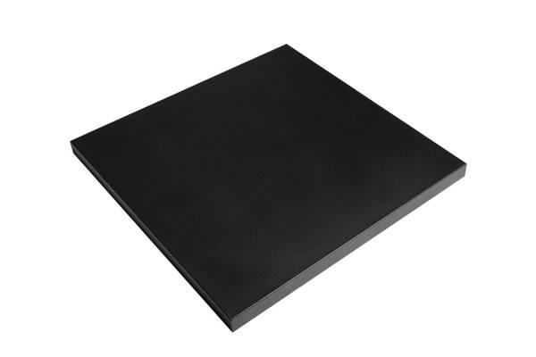Stål topp, firkantet sort