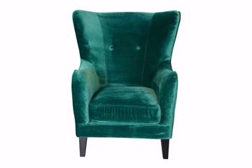 Champo Chair, green velvet