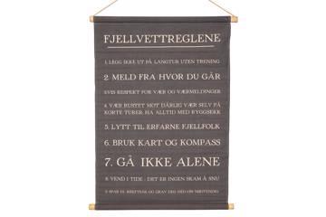 Plansje, Fjellvettreglene, 64x87cm