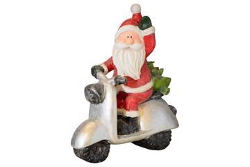 Santa on scooter