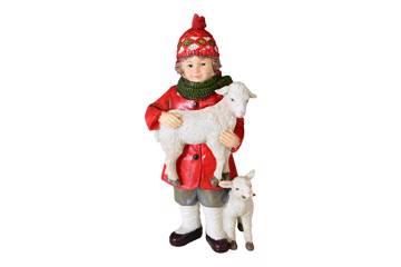Vinterjente med lam