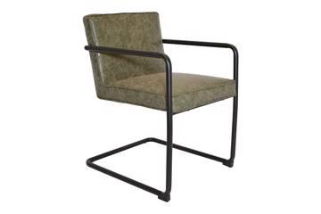 Silva stol, mørk grå PU