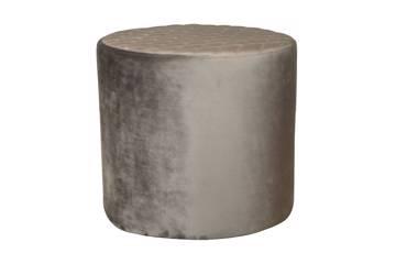 Ejby Pouf - Round - grey velvet