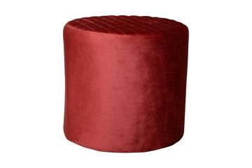 Ejby Pouf - Round - red velvet