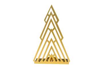 Metall lysholder, gull, stor