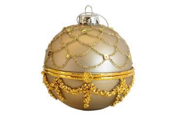 Juletrepynt champagne/gull - kan åpnes