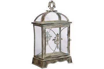 Firkantet lanterne - Antikk sølv