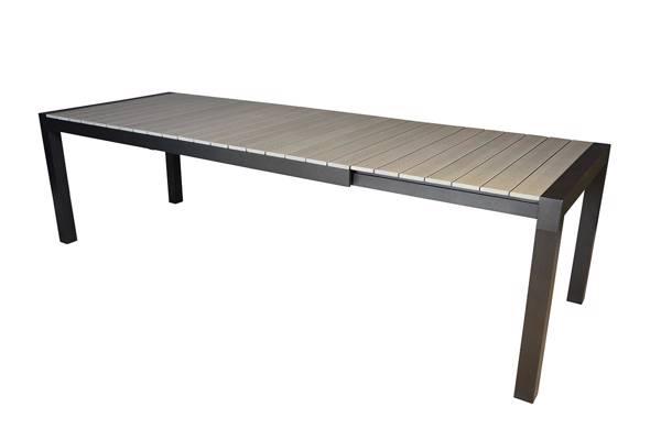 Noonwood Uttrekkbartbord, 205/275x90, grå