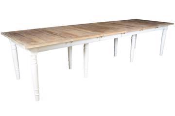 Natare uttrekkbartbord 120-320x100xH74 cm, hvite bein