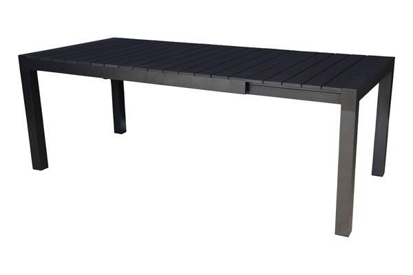 Noonwood uttrekkbartbord, sort 160/210x95cm