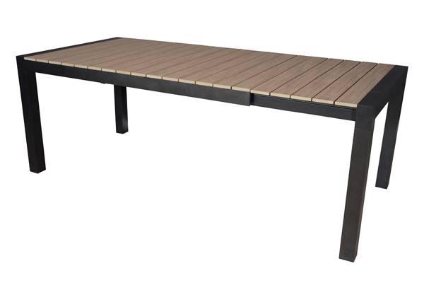 Noonwood uttrekkbartbord, brun, 160/210x95cm