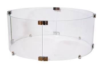 Beskyttelsesglass for rundt peisbord