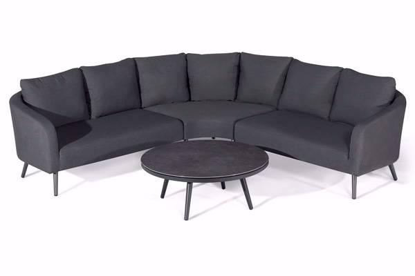 Bilde av Avena Hjørnesofa med rundt bord, mørk grå