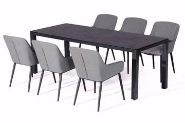Bilde av Avena rektangulært bord og 6 Avena stoler, grå