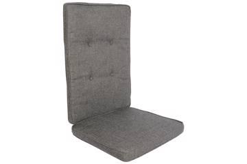 Pute til høy rygg stol, mørk grå/sort