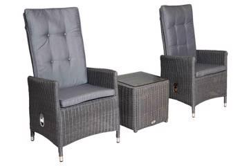 Bilde av Maranta Høy rygg 2 stoler og firkantet kaffebord