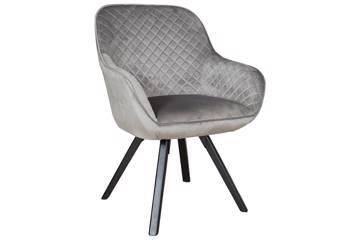 Kata stol, grå velur