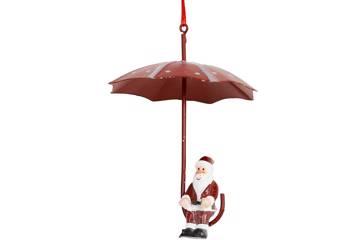 Julenisse på paraply