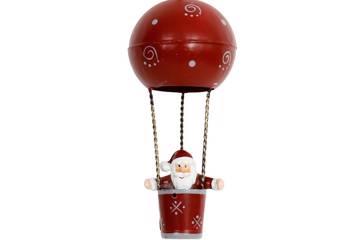 Julenisse i luftballong