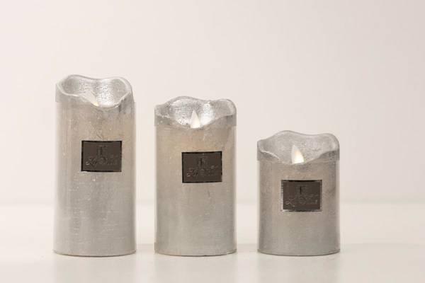 LED lys, sølv - liten