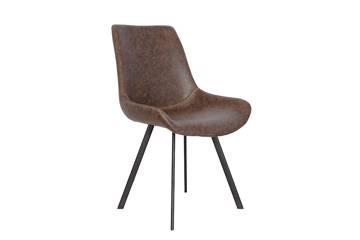 Meros stol, mørk brun PU