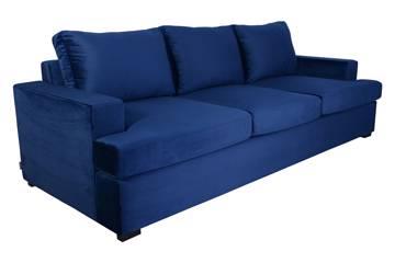 Lamina 3 seter sofa, blå velur