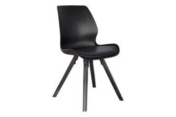 Bilde av Aden stol, sort med sorte ben