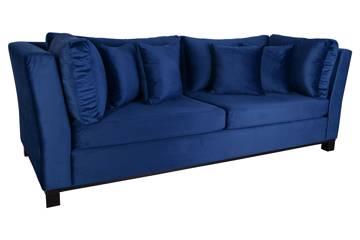 Forma 3 seter sofa, blå velur