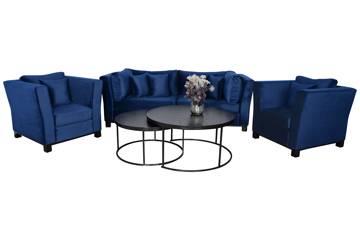 Forma sofagruppe, blå velur