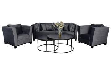 Forma sofagruppe, mørk grå velur