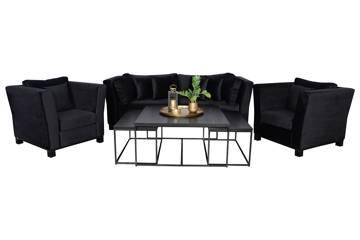 Forma sofagruppe, sort velur