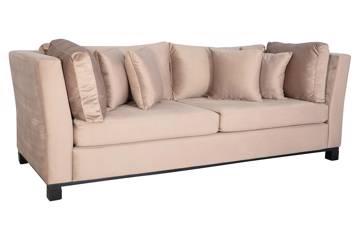 Forma 3 seter sofa, beige velur