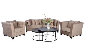 Forma sofagruppe, beige velur