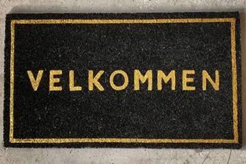 Dørmatte med glitter, Velkommen 40x70 cm