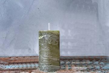 Rustikk kubbe, 5x9cm, grønn
