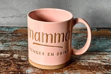 "Krus ""Mamma drink"", rosa"