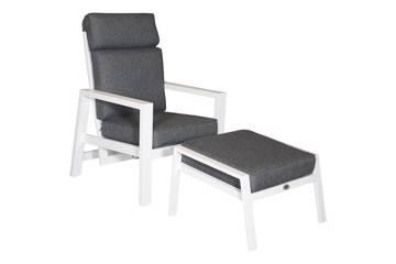 Lantana justerbar stol med fotskammel