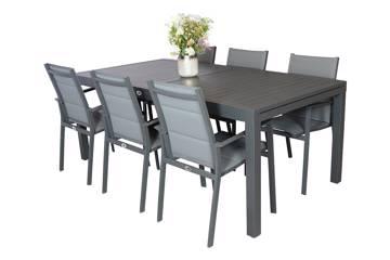Montana spisesett med uttrekkbart bord og 6 stoler