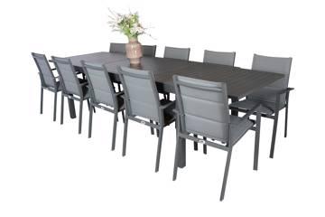 Montana spisesett med uttrekkbart bord og 10 stoler
