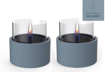 Tenderflame, Breeze 10, 2-Pack  Lys blå