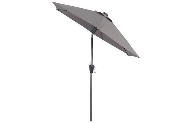 Parasoll med midtstang, 2m, grå
