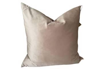 Putetrekk, Lovely beige, shiny velvet, 60x60cm