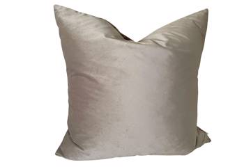 Putetrekk, Sand, shiny velvet, 60x60cm