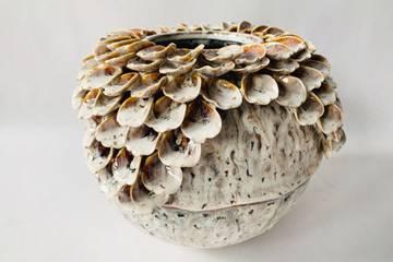 Vase keramikk, rund