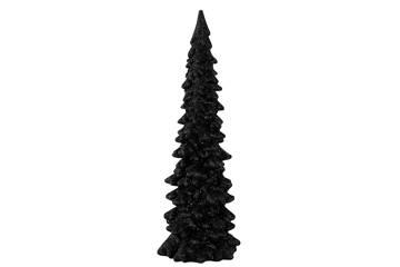 Juletre, sort med glitter