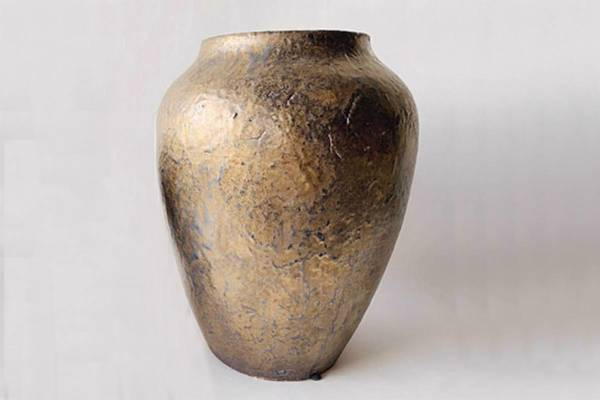 Bilde av Keramikk urne, brun